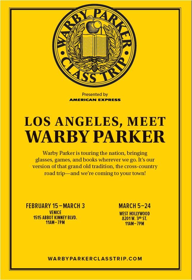 Warby Parker Class Trip LA Flyer